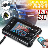 12V/24V Air Diesel Heater Parking Remote Controller +LCD Monitor & Button Switch