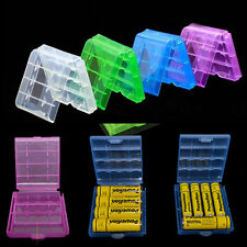 4PCS Hard Plastic Case Holder Storage Box Cover for Rechargeable AA AAA Battery