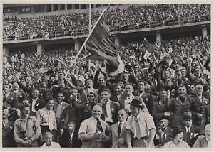 1936 BERLIN GERMAN OLIMPIC GAMES - Italian Fans Stadium ORIGINAL PHOTO #142