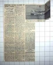 1955 Panama Vessel Punta Sinks On Seven Stones, Various Nationalities