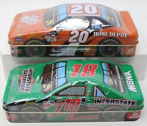 Lot of 2 Sealed NASCAR Collectible Tin Cars from 2002 Tony Stewart Bobby Labonte