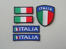 KIT N 5 TOPPE PATCH ITALIA RICAMATI TERMOADESIVI