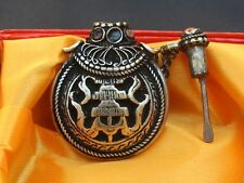 Tibetan Turquoise Red Coral Carved Protect Parasol Spoon Snuff Bottle Pendant