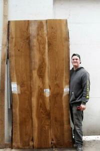 Live Natural Edge White Valley Oak Wood Slab Unfinished Rustic Furniture 6845m1