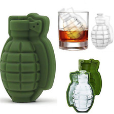 Novelty Grenade Shape 3D Ice Cube Mold Maker Bar Party Silicone Trays Mold Tool