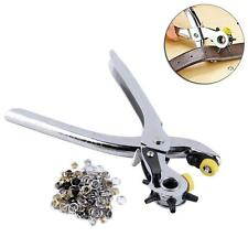 Heavy Duty Revolving Leather Hole Belt Craft Punch Puncher Plier 5 Sizes Hole TR