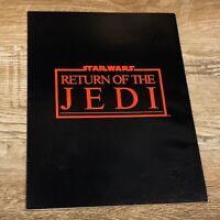 Star Wars Return of the Jedi Premier Programme Booklet Program 1983