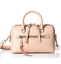 NWT MARC Jacobs Leather Recruit Bauletto Satchel Nude Silver Tone Hdwr M0008894