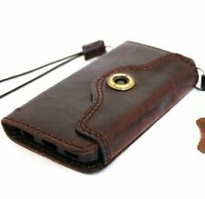 Genuine Oiled Leather Davis case for iPhone 5S 5C SE Book Wallet Cover Handmade