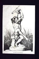 Il fauno ed il fanciullo Incisione del 1868