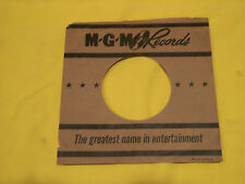 Rare Vintage Brown MGM 45 RPM Sleeve - NO Seam Split Writing or Stickers  - Exc!
