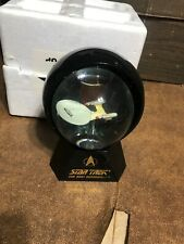 Star Trek The Next Generation Enterprise Water Globe Made By Willitts 1993