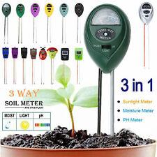 3 in 1 Soil Moisture Sunlight PH Meter Tester Garden Plants Humidity Measurement