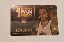 Kevin DURANT 2017 BART Ticket card Golden State Warriors