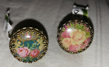 Michal Negrin Roses Vintage-Look Round Cameo Ring CHOOSE COLOR NEW! $48