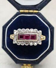 Natural Ruby Fine Diamond Rings