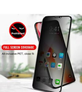 PRIVACY Tempered Glass Screen Protector For iPhone 13 PRO 12  PROMAX 11 XS XR SE