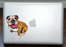 "English Bulldog Art Full Color Decal for 13"" Macbook"