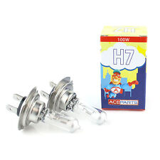 2x H7 [499] 100w Clear Xenon Headlight Bulbs 12v