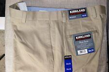 NWT KS Men's dress pants, classic fit with flat front, 100% cotton (754084)