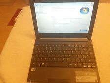 "Acer aspire one D255 netbook notebook portatile ssd 120gb 2 gb ram 10"" win 7"