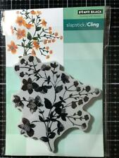 New Penny Black Rubber Stamp YOUTHFUL FLOWERS BLOOM Free USA ship cling