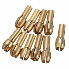 10Pcs Brass Mini Drill Chucks Collet 0.5-3.2mm 5mm For Rotary Tool Pin Vises New