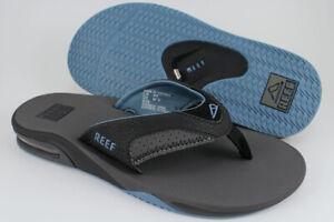REEF FANNING GRAY/LIGHT BLUE/BLACK FLIP FLOPS THONG SANDALS BEACH MICK MEN SIZES