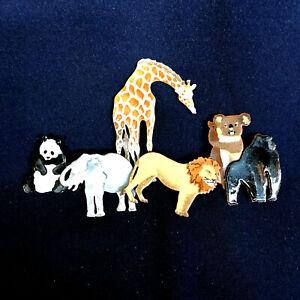 Bovano Cheshire Art Sculpture African Animals Wall Hanging Giraffe Panda Koala