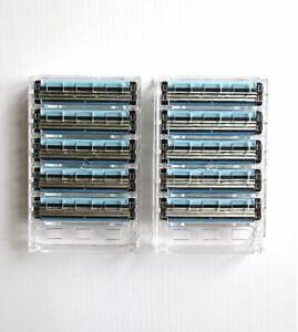 10 triple blade razor blades for Gillette Sensor, Sensor 3 & Excel