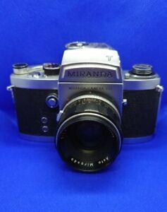 Miranda F 35mm SLR Film Camera, 50mm f/1.9 & T light meter viewfinder + 1/2 case