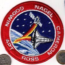 NASA Space Ship Patch Shuttle Flight Mission Astronaut NAGELCAMERON ROSS GODWIN