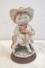 Vintage Guiseppe Armani Cowboy With Baby Cow Figurine Figure 1981