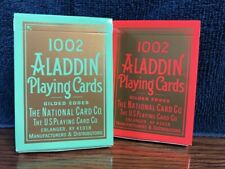 2 DECKS 1002 Aladdin playing cards GILDED EDGES