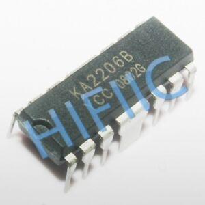 10PCS KA2206B 2.3W DUAL AUDIO POWER AMP DIP14