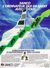 Publicité advertising 1986 Les Ordinateurs Sanco