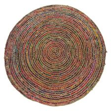 Pavan Round multi-coloured woven rug 200cm - 445061