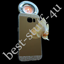 Mirror Crystal >10  Bling Silicone Soft Gel Case Back Cover Samsung Galaxy S5 S6