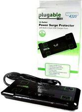 3m Ps12-usb2b Plugable 12 AC Surge Protector