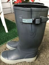 Marc Jacobs Blue/Gray Rain Boots Tall Size 8 Womens