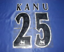 Lextra 97-06 Arsenal Invincible ' KANU 25 '  EPL Player Issue Shirt Name Set