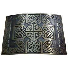 SL Highland Kilt Belt Buckle Cross Knot Work Antique Finish/Celtic Kilt Buckle