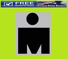 IRON MAN VINYL DECAL STICKER WINDOW Marathon 140.6 Triathlon Running Jogging