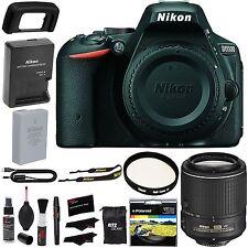 Nikon D5500 DX SLR Camera Body + NIKKOR 55-200mm f/4-5.6G ED VR Lens Filter Kit