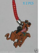 2PCS  SCOOBY DOO DOG CELL PHONE STRAP BAG CHARM KEY CHAIN us un314