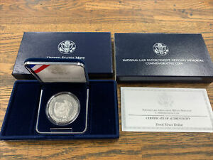 1997 National Law Enforcement Proof Silver Dollar