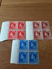 Vintage Mint Edward VIII Definitive 1936 Stamps