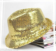 Vogue 1Pc Glitter Sequin Fedora Trilby Cap Dance Jazz Hat Gangster Party Costume