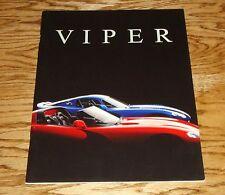 Original 1997 Dodge Viper Deluxe Sales Brochure 97 GTS RT/10