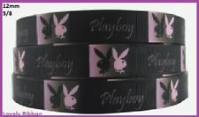 1 metre, PLAYBOY, 15mm, Ribbon, 5/8, Grosgrain, Hair, Sewing, Cake Decorate, Art